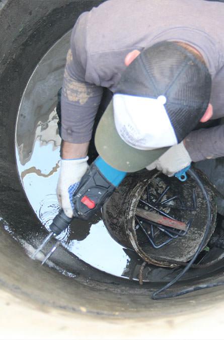 Как мы выполняем ремонт колодцев в Андреевке